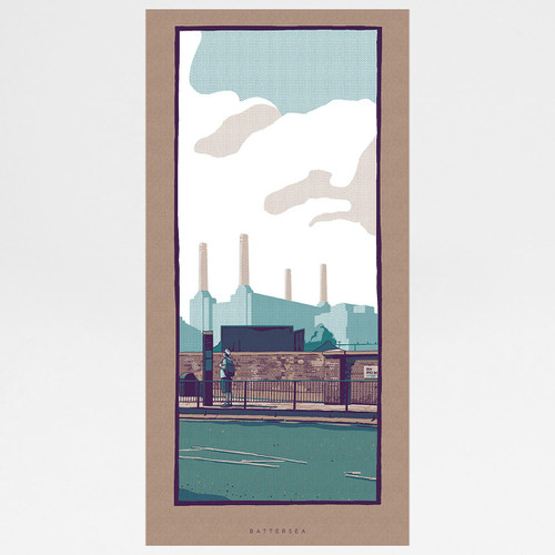 Battersea art print by Liam Devereux at Of Cabbages and Kings