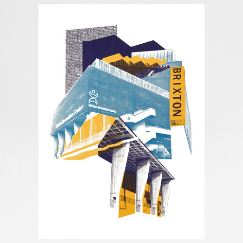 Brixton Rec print by Underway Studio at Of Cabbages and Kings