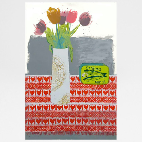 Mixed Bunch screen print by Freya Cumming at Of Cabbages and Kings