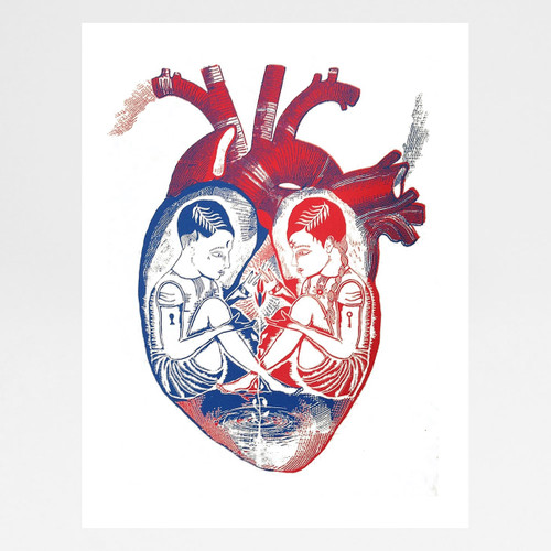 Guardians of the Heart screen print by Johnathan Reiner at Of Cabbages and Kings