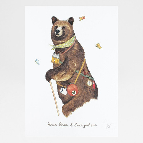 Here, Bear & Everywhere print by Mister Peebles at Of Cabbages and Kings.