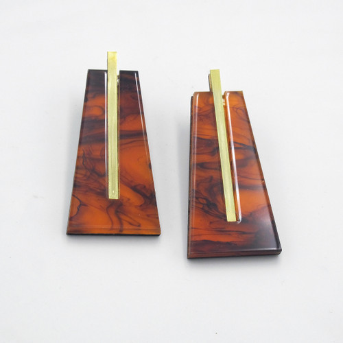 Sola Earrings in Tortoiseshell from Chalk House Jewellery at Of Cabbages and Kings