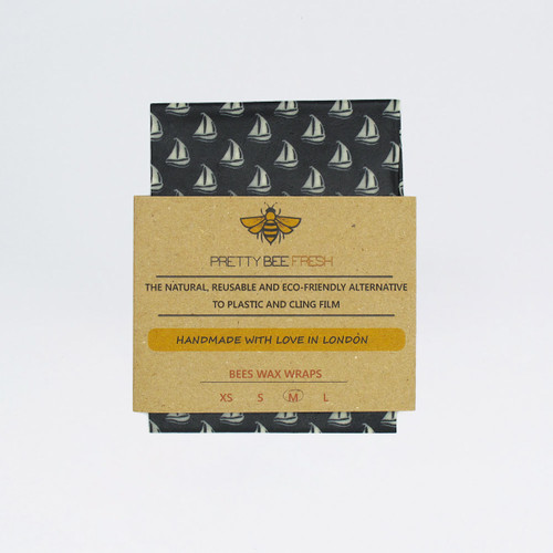 Beeswax Wrap - Boats Print by Pretty Bee Fresh at Of Cabbages and Kings