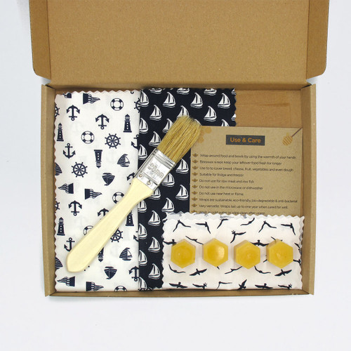 DIY Beeswax Wrap Kit - Maritime by Pretty Bee Fresh at Of Cabbages and Kings