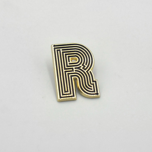 Labyrinth Letter Pin - R by Seven Green Moons at Of Cabbages and Kings
