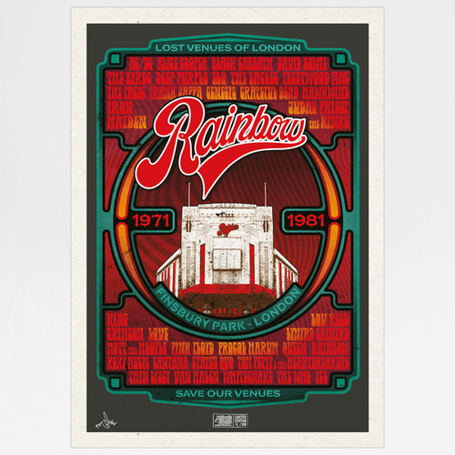 Rainbow Rock poster print by Fiftyseven for 45 Original at Of Cabbages and Kings