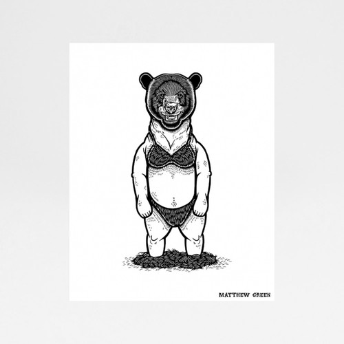 Bear-Kini by Mathew Green at of cabbages and kings