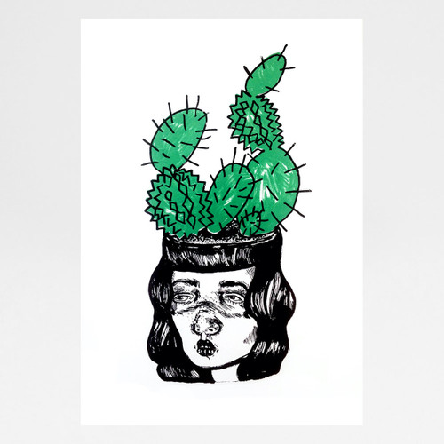 Head Plant screen print by Marcelina Amelia at Of Cabbages and Kings