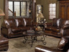 Leather Sofa, Love Seat, Chair Ottoman, Rocking recliner and Power Recliner.