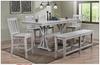 """Carmel Counter high 78"""" table and chairs in grey"""