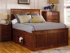 Shaker 12 drawer (or 9 drawer with 3 extra deep drawers) Storage Chest Bed Queen, King, Full, or Twin size available Solid Alder 12 Stain options 3 hardware options Made in America