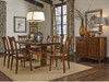 "Shenandoah trestle II table 36"" x 72"" with Sheffield Side chair- Express and Quickship options in Character cherry Timeless design details make this table a chameleon that fits in country, casual, classic or contemporary environments."