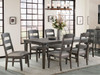 Foundry 4 leg table and ladder back chairs