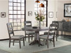 Foundry round table and ladder back chairs