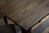 Detail of Elm wood on Elara table
