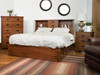 Old mission Bookcase bed with under bed storage