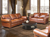 4955 Leather Group Sofa, Love Seat, Chair, Ottoman.