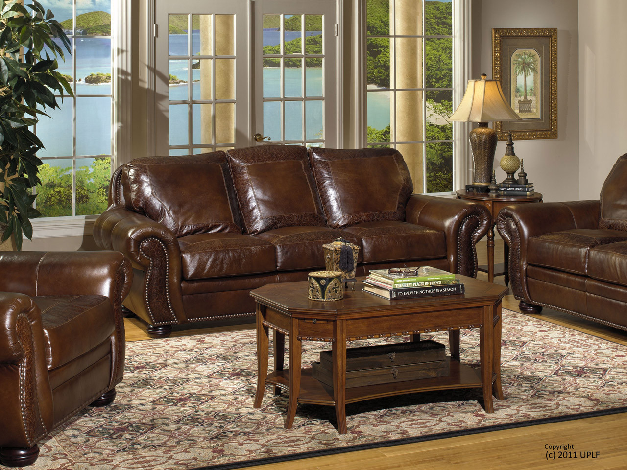 8555 Leather Sofa