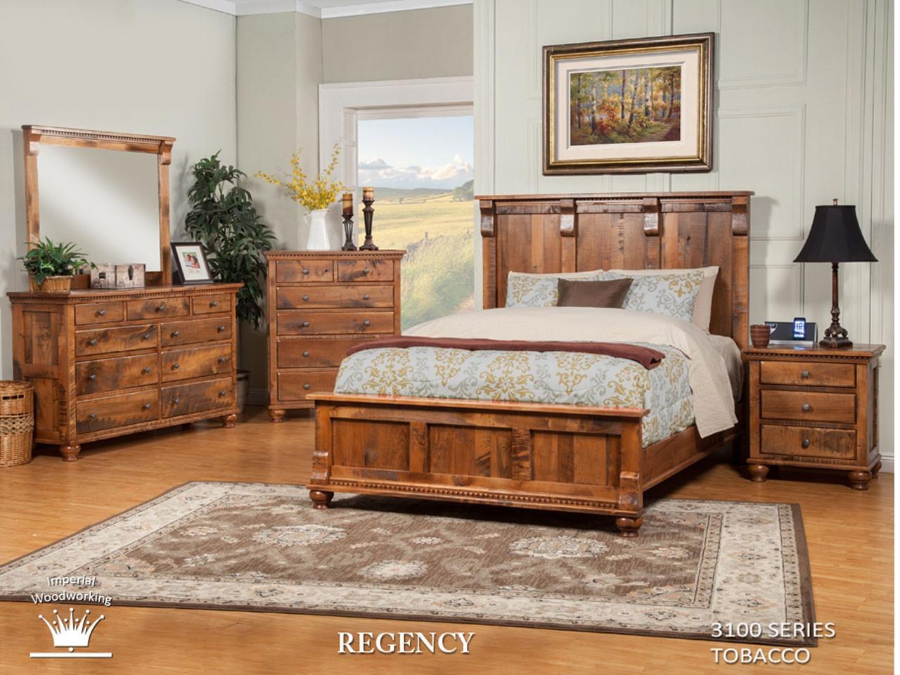 Clearance - Regency Bedroom Set - Vintage Oak Furniture