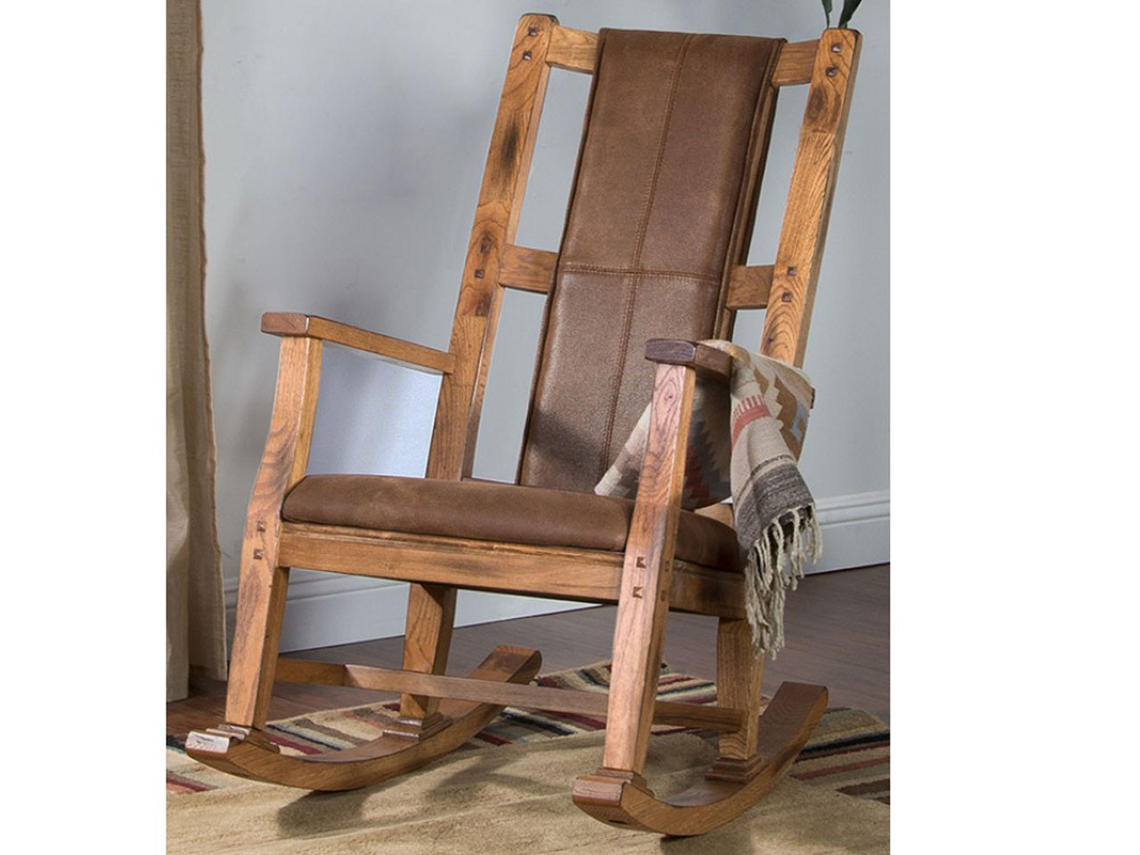 Incredible Sedona Rocking Chair Microfiber On Rustic Oak Vintage Machost Co Dining Chair Design Ideas Machostcouk