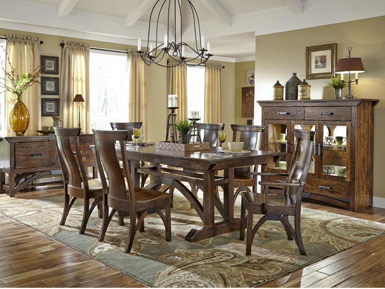 B O Railroad Trestle Table By Simply Amish