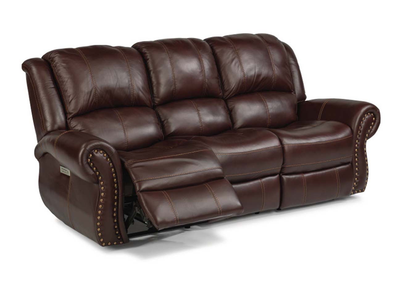 Patton Leather Reclining Sofa-