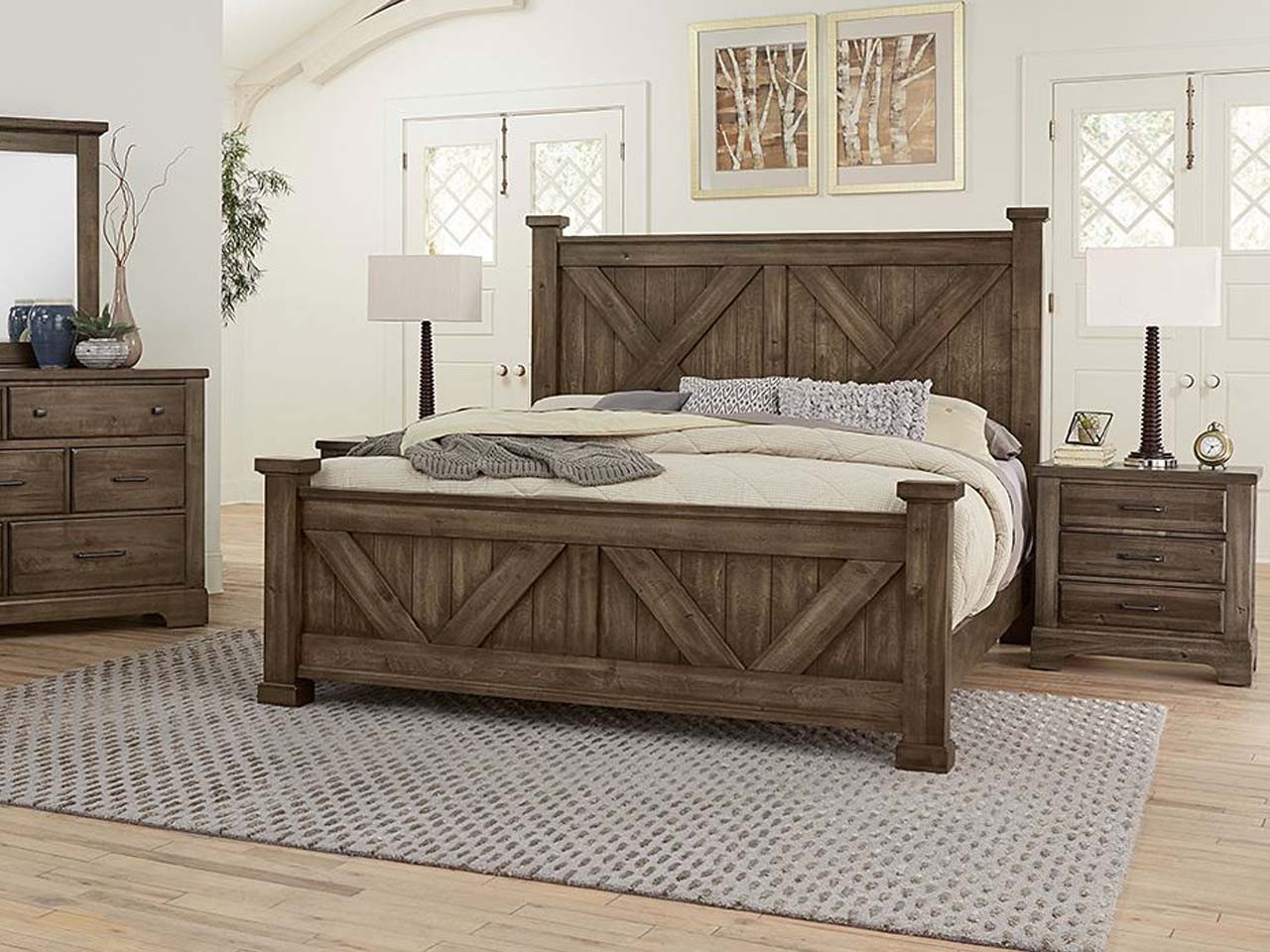 Cool Rustic X Panel Bed with Standard rails