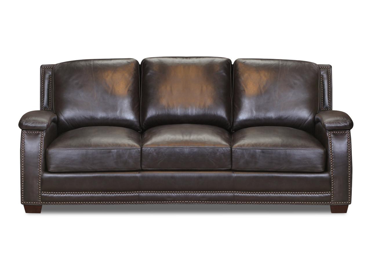 8250 Primo Smoke Leather Sofa