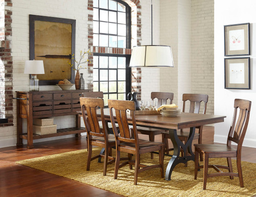 The District collection can be found right in between contemporary and traditional styles. The District's clever composition is formed from Solid Birch and cast metal with a rustic copper finish, giving it a unique framework and warm tone. For a tasteful charm with a dapper touch, fill your home with style from The District