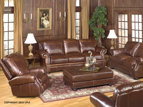Extra long leather sofa collection.  Made in Utah