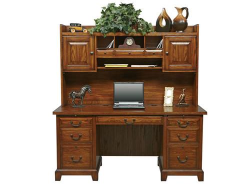 Oak Executive Desk With Optional Hutch