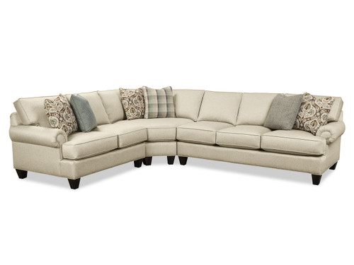 Craftmaster Custom Design Can Choose many options like fabric and wood choice.  C9132 Sectional