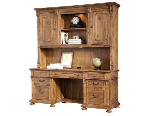 7-9300 Office Express Credenza Desk With Hutch