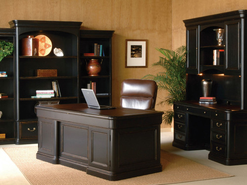 7 9141 Louis Phillippe Executive Credenza U2022Top Is Comprised Of Leather With  Blind Tooling