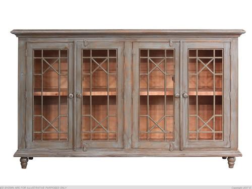 Vintage decorative metal panel door console table