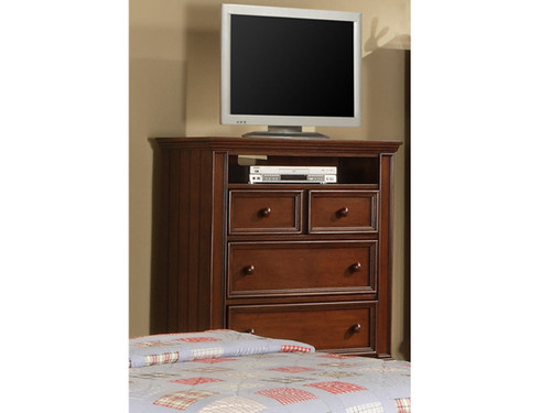 Chocolate 3 drawer TV Chest. Cape Cod collection