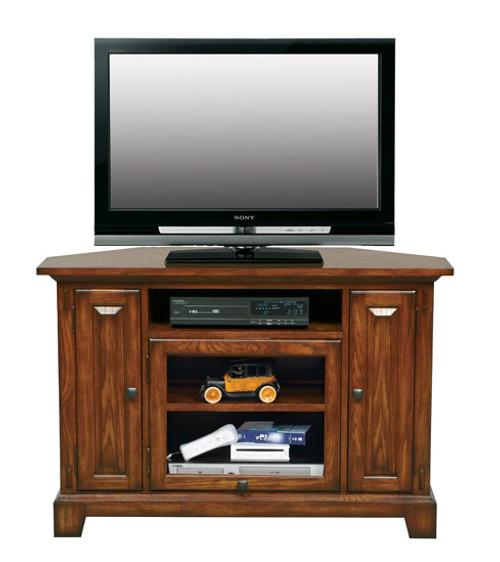 "Medium Oak 47"" Corner TV stand"