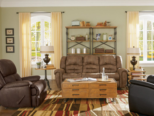 FLOOR MODEL SECTIONAL SALE Downtown Reclining Sectional - 4  Piece Leather SECTIONAL $3499