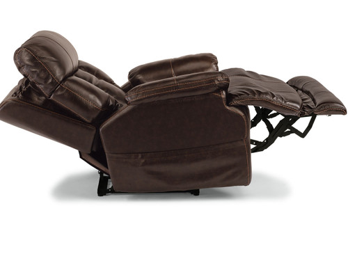 CLIVE LEATHER POWER RECLINER with Power Headrest and Power Lumbar. -