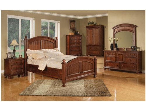 Cape Cod Chocolate Bed. Available in Twin, Full, Queen and King sizes.