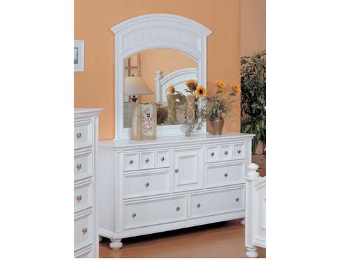 Cape Cod Eggshell White Dresser and Mirror