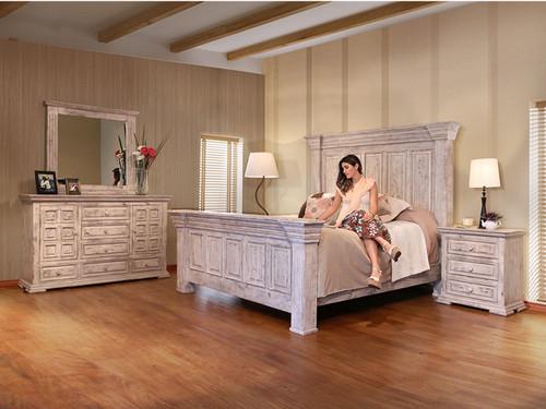 WHITE TERRA QUEEN BED