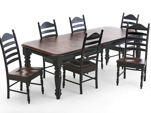 """Knotty alder table extends from 6 feet to 8 feet with 1-24"""" leaf"""