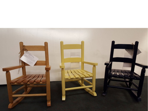 """Assorted colors of the """"Emilie"""" Baby Rocker. Available in several painted or stained colors."""