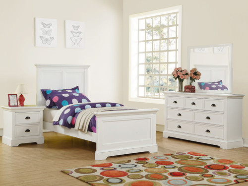Tamarack Twin Bed in White finish