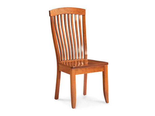 Justine dining chair. Solid Cherry.  Shown in Express, Quick ship wood and stain option.