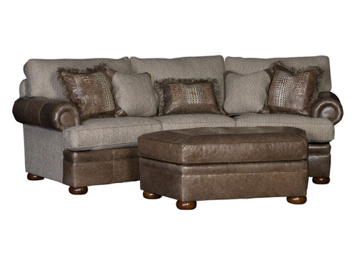 Fabric and Leather Conversation sectional