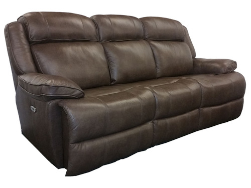 Avalon Power Reclining Sofa in Latte color. Power headrest and power lumbar. Available as sofa, love seat and reclining chair in your choice of 2 colors: latte or smoke