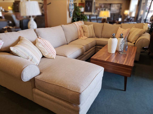 Large Sectional with chaise Made in Utah Lifetime warranty