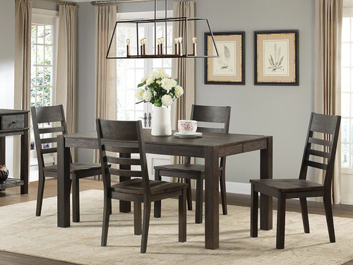 Intercon Salem Dining Table Wire Brushed Cocoa Finish